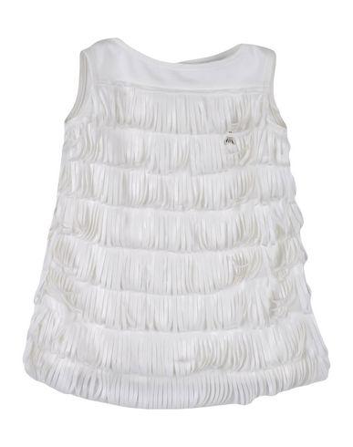 PATRIZIA PEPE Baby Kleid Weiß Größe 6 100% Polyurethan Baumwolle Elastan