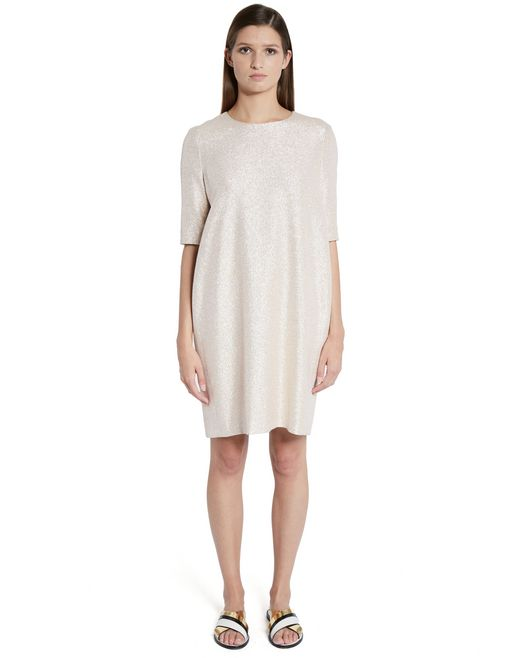 lanvin lamé dress women