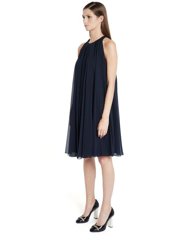 LANVIN SILK CHIFFON DRESS Dress D d