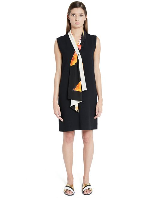 lanvin satin crêpe dress women