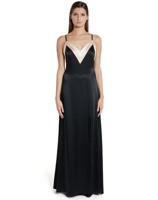 LANVIN Long dress D LONG SATIN DRESS F