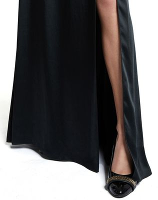 LANVIN LONG SATIN DRESS Long dress D b
