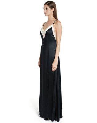 LANVIN LONG SATIN DRESS Long dress D d