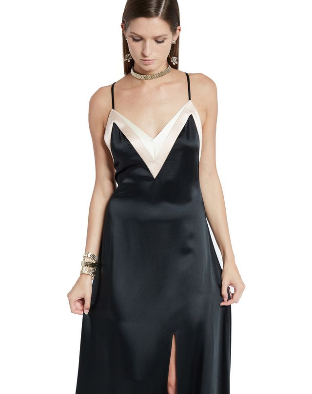 LANVIN LONG SATIN DRESS Long dress D a