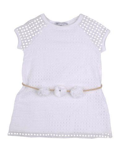 PATRIZIA PEPE Baby Kleid Weiß Größe 9 95% Baumwolle 5% Elastan