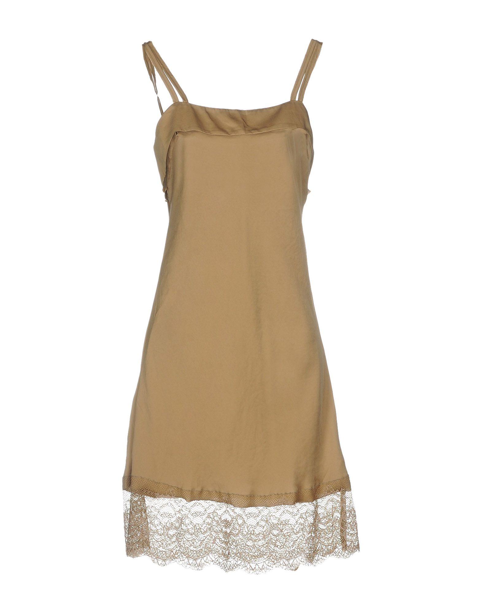 TWINSET Короткое платье платье без рукавов с кружевной вставкой на спинке