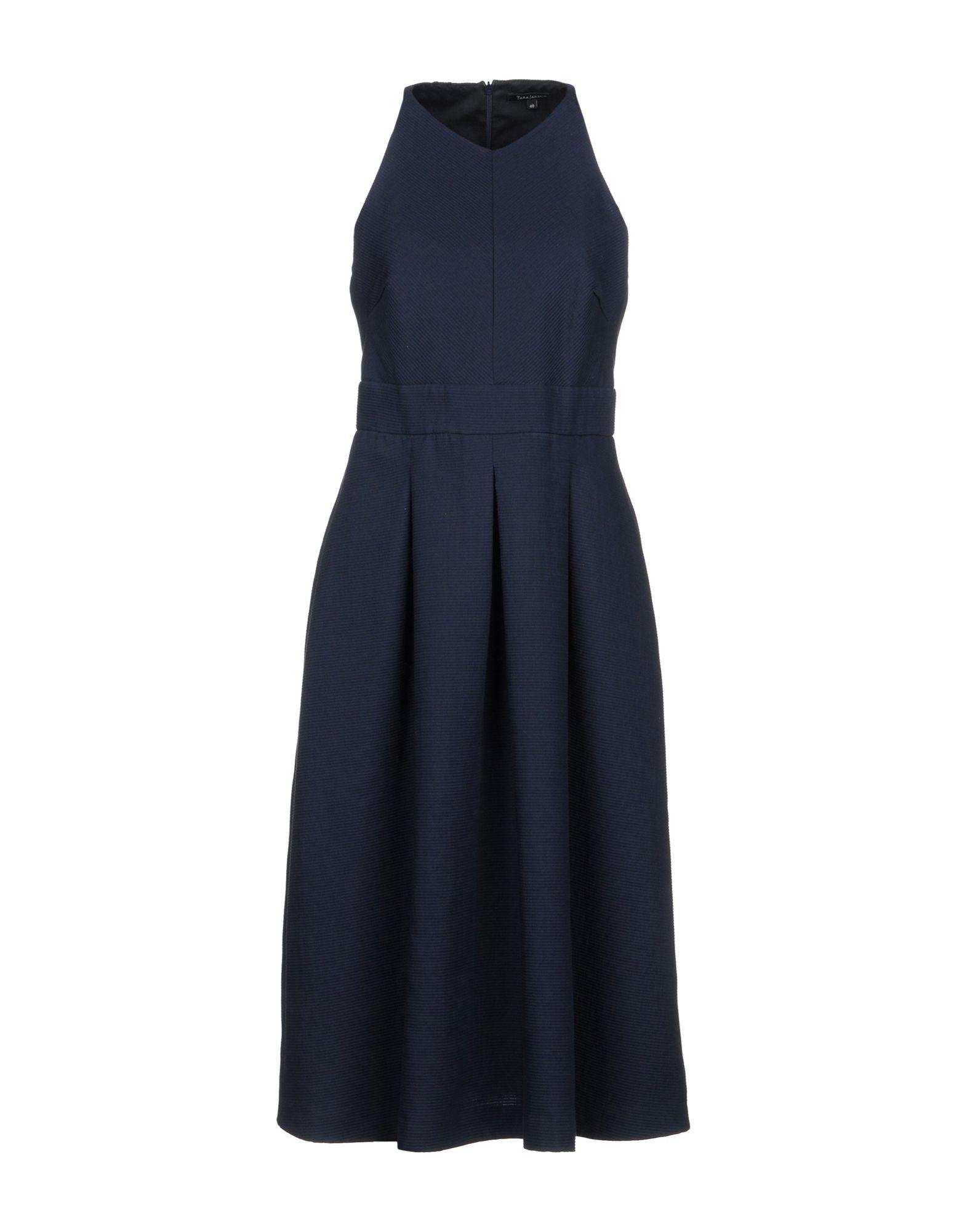 TARA JARMON Knee-Length Dress in Dark Blue