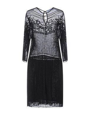 BLUMARINE Damen Knielanges Kleid Farbe Schwarz Größe 5 Sale Angebote