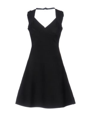 HERVÉ LÉGER BY MAX AZRIA Damen Kurzes Kleid Farbe Schwarz Größe 3 Sale Angebote Terpe