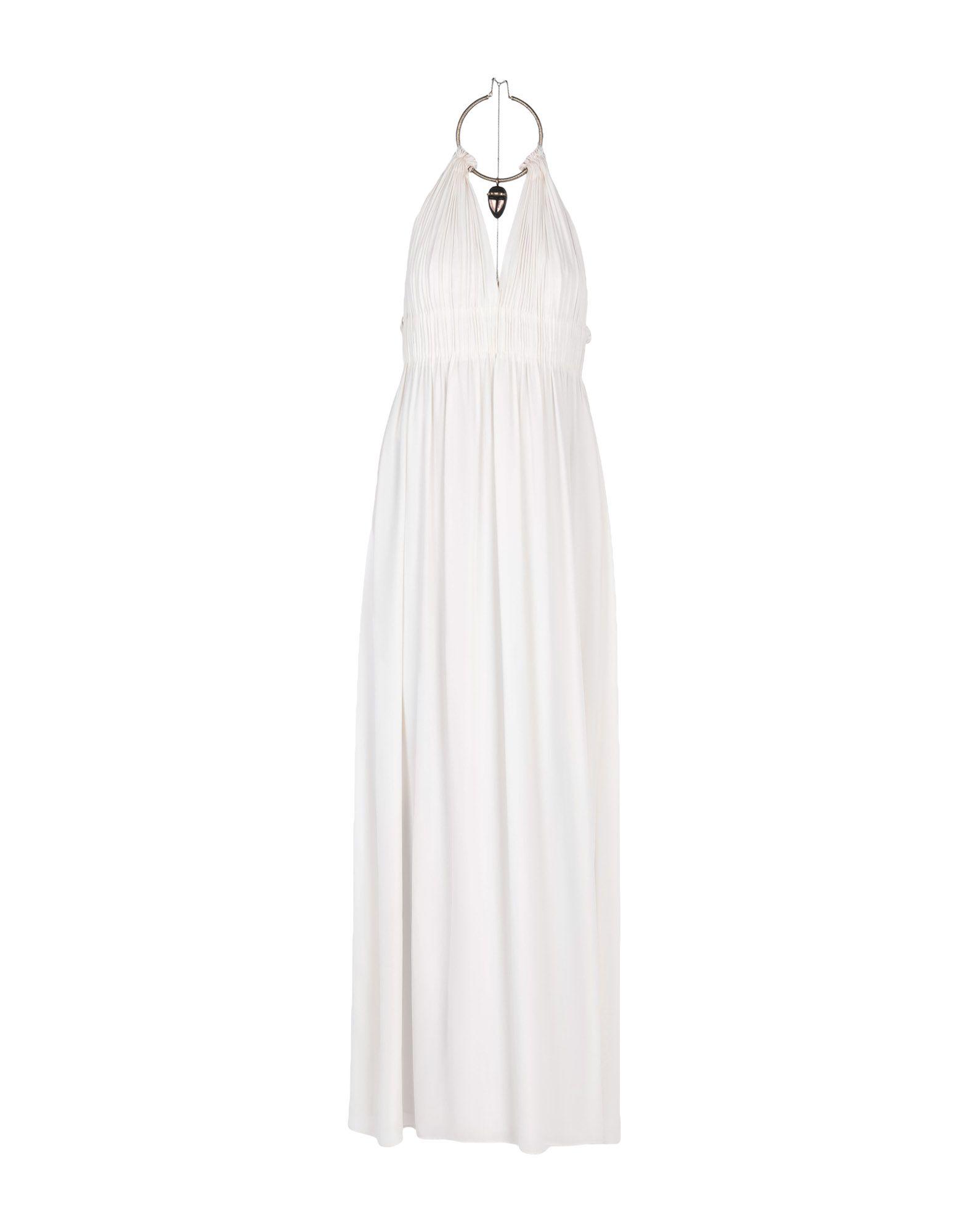 《送料無料》VALENTINO レディース ロングワンピース&ドレス アイボリー 42 シルク 100%