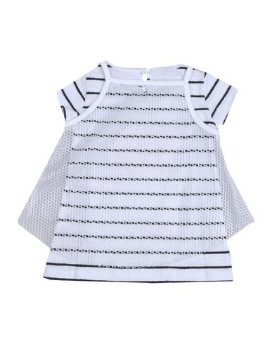 PATRIZIA PEPE Baby Kleid Weiß Größe 6 100% Polyester