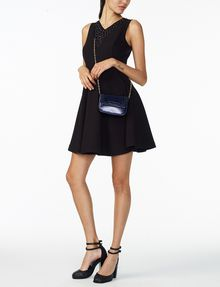 ARMANI EXCHANGE STUDDED FIT-AND-FLARE Mini dress Woman a