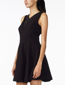 ARMANI EXCHANGE STUDDED FIT-AND-FLARE Mini dress Woman d