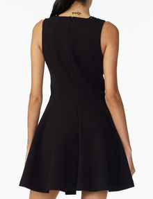 ARMANI EXCHANGE STUDDED FIT-AND-FLARE Mini dress Woman r
