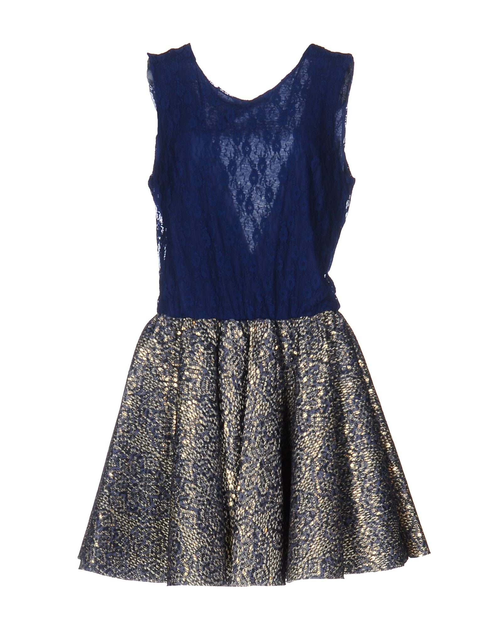ODI ET AMO Damen Kurzes Kleid Farbe Dunkelblau Größe 5