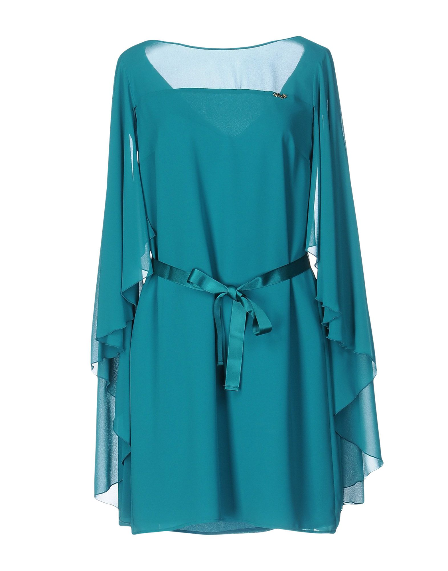 LES COCKTAILS DE LIU •JO Damen Kurzes Kleid Farbe Petroleum Größe 4