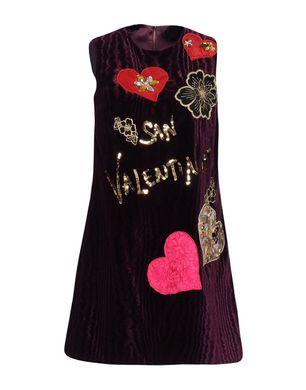 DOLCE & GABBANA Damen Kurzes Kleid Farbe Violett Größe 3 Sale Angebote Lutzketal
