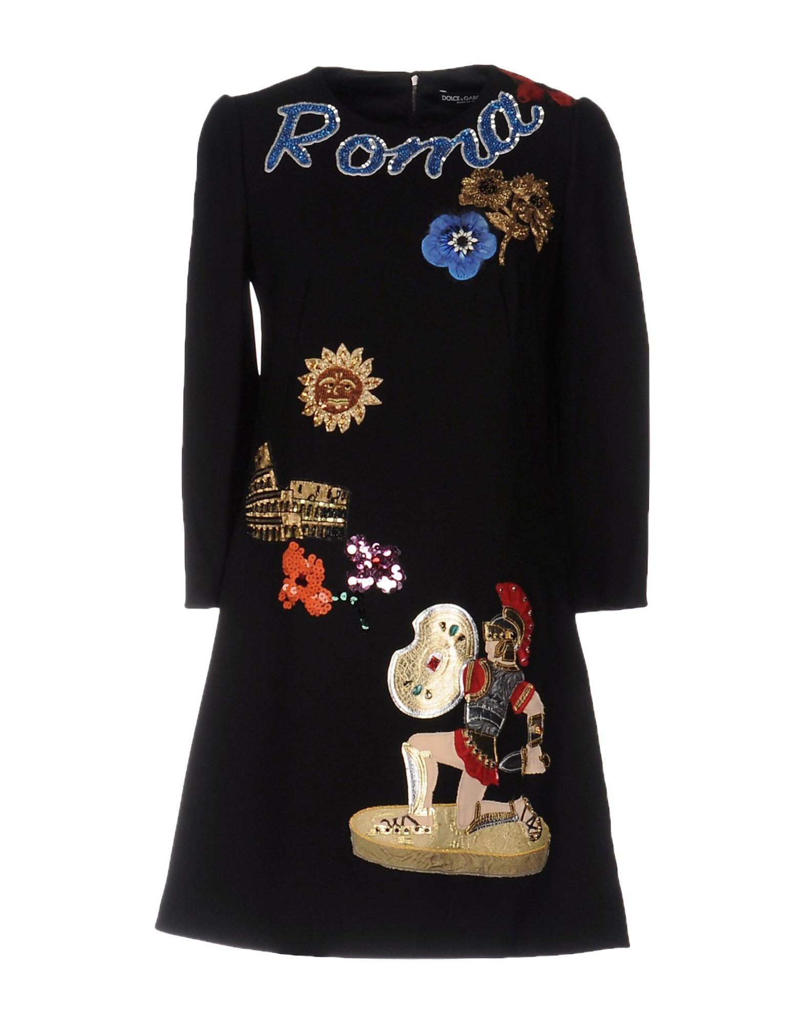 Фото DOLCE & GABBANA Короткое платье. Купить с доставкой