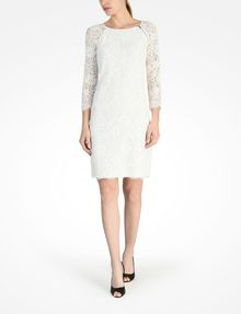 ARMANI EXCHANGE LACE SHEATH DRESS Mini dress Woman a