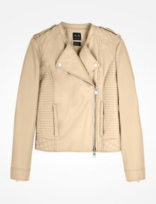ARMANI EXCHANGE QUILTED MOTO JACKET PU D b