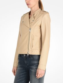 ARMANI EXCHANGE QUILTED MOTO JACKET PU D d