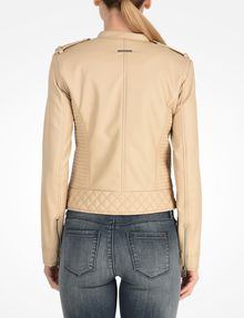 ARMANI EXCHANGE QUILTED MOTO JACKET PU D r