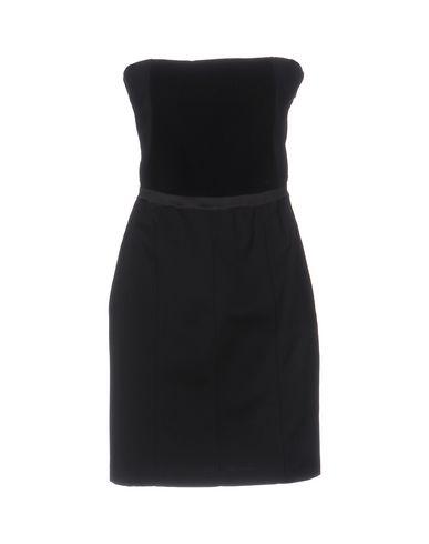 Фото - Женское короткое платье  черного цвета