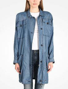 Armani Exchange LIGHTWEIGHT DENIM PARKA, Coat for Women - A|X ...