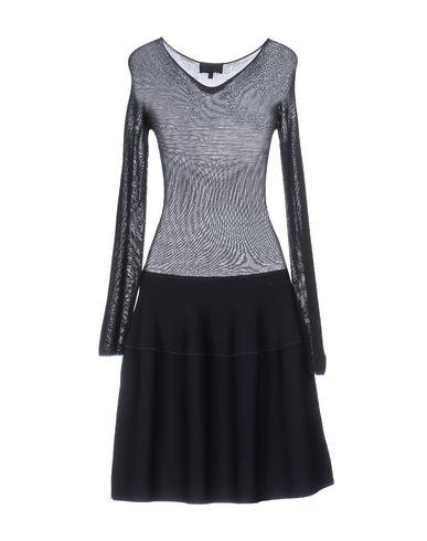 Фото 2 - Платье до колена темно-синего цвета