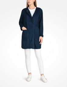 ARMANI EXCHANGE LONG INDIGO DENIM COAT Coat Woman a