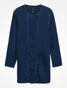 ARMANI EXCHANGE LONG INDIGO DENIM COAT Coat D b