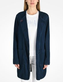 ARMANI EXCHANGE LONG INDIGO DENIM COAT Coat Woman f