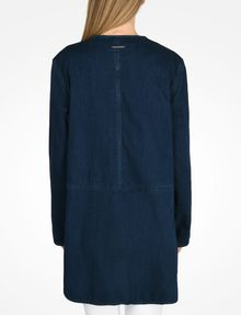 ARMANI EXCHANGE LONG INDIGO DENIM COAT Coat D r