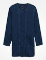 ARMANI EXCHANGE LONG INDIGO DENIM COAT Coat Woman b