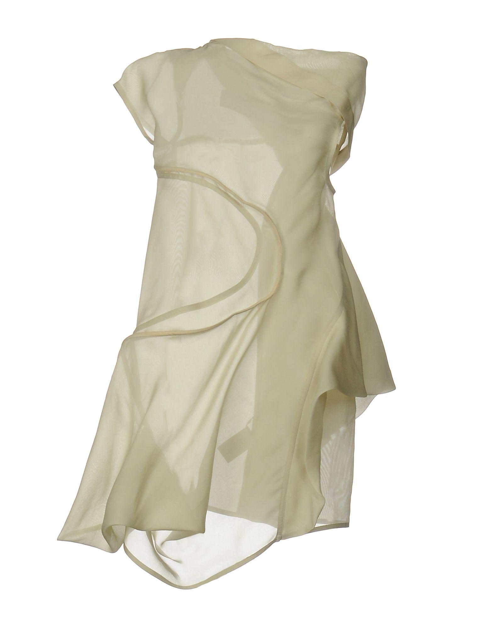 Короткое платье  Желтый цвета