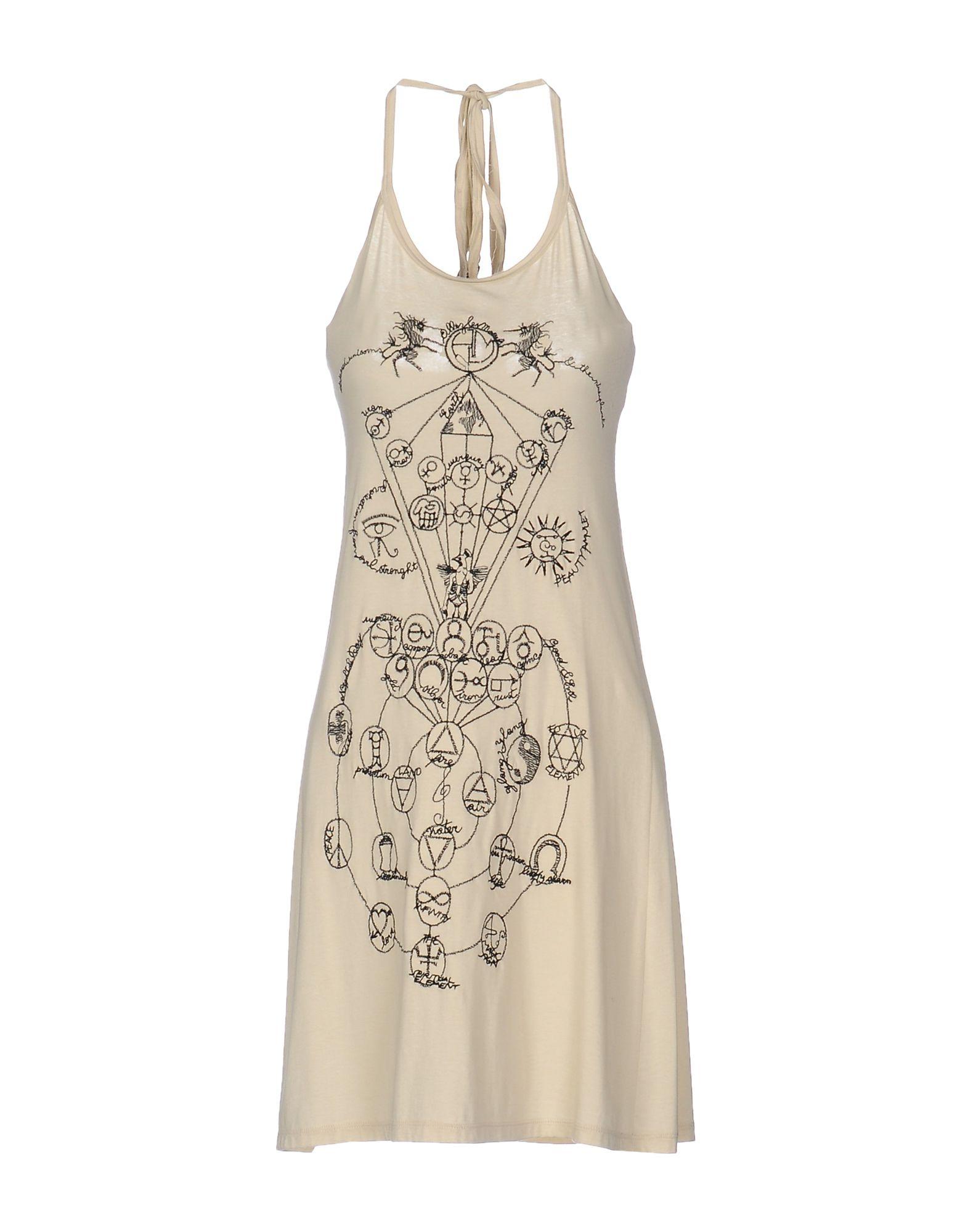 цена ALLEZ LES MOEUFS Платье до колена онлайн в 2017 году