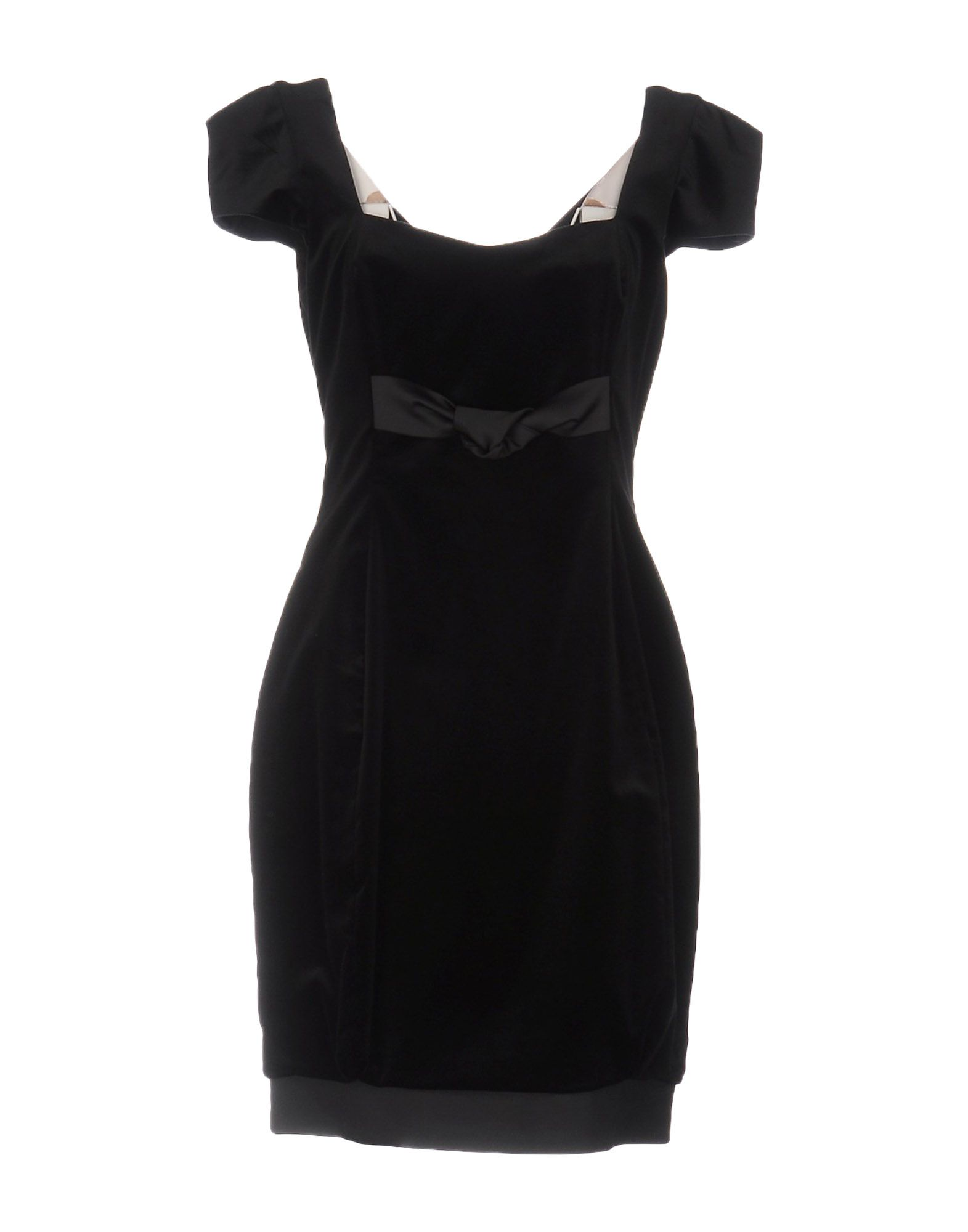 цена FABRIZIO LENZI NOIRE Короткое платье онлайн в 2017 году