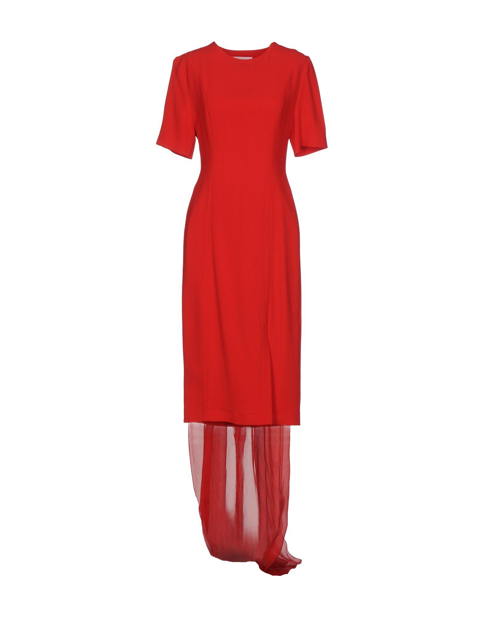 DANIELE CARLOTTA Knee-Length Dress in Red