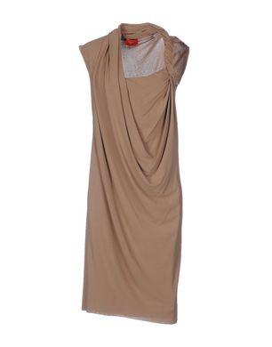 LANVIN Damen Knielanges Kleid Farbe Khaki Größe 6 Sale Angebote