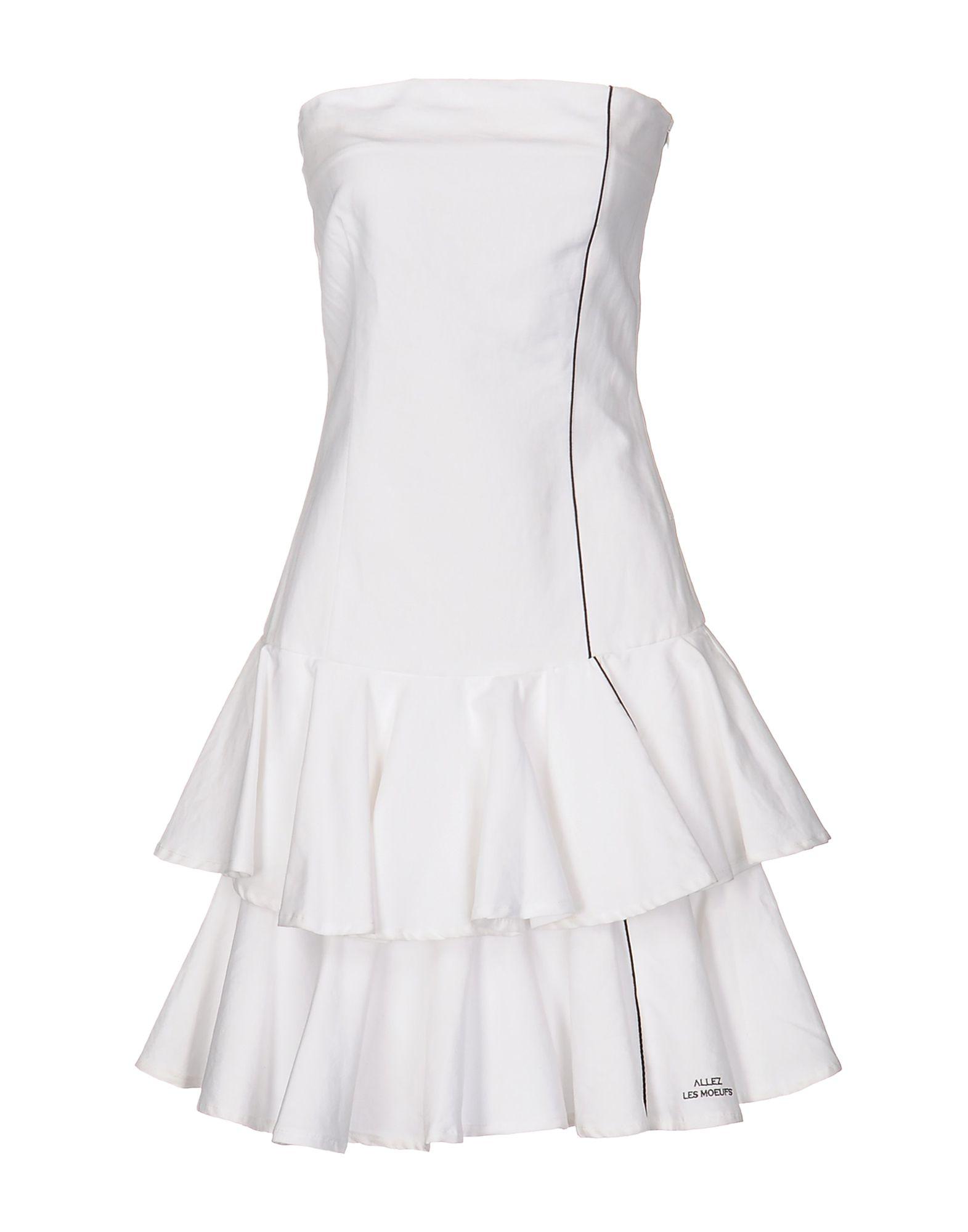 цена ALLEZ LES MOEUFS Короткое платье онлайн в 2017 году