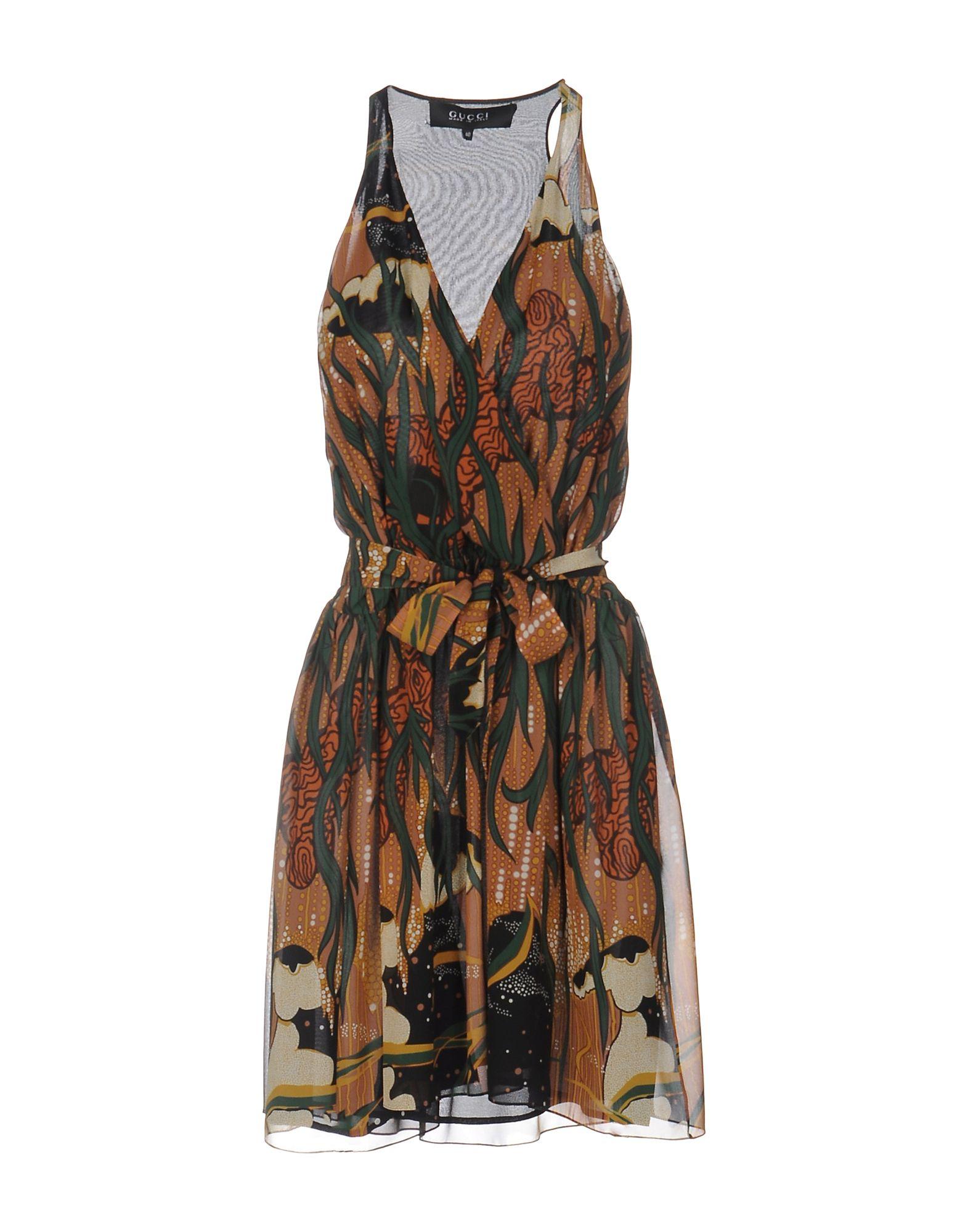 GUCCI Damen Kurzes Kleid Farbe Mittelbraun Größe 3
