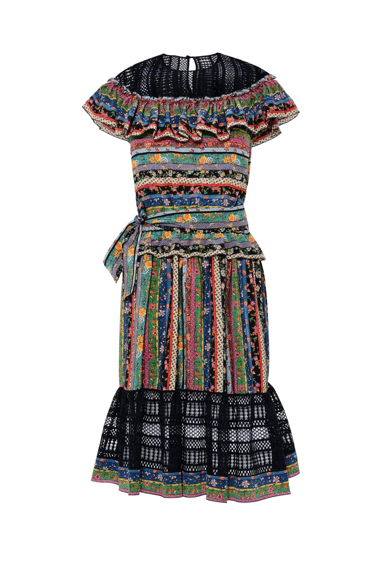 PATCHWORK STRIPED DRESS