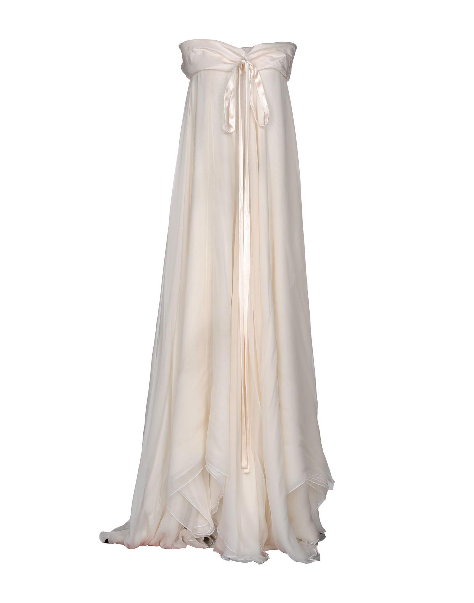 GUCCI Damen Langes Kleid Farbe Elfenbein Größe 4