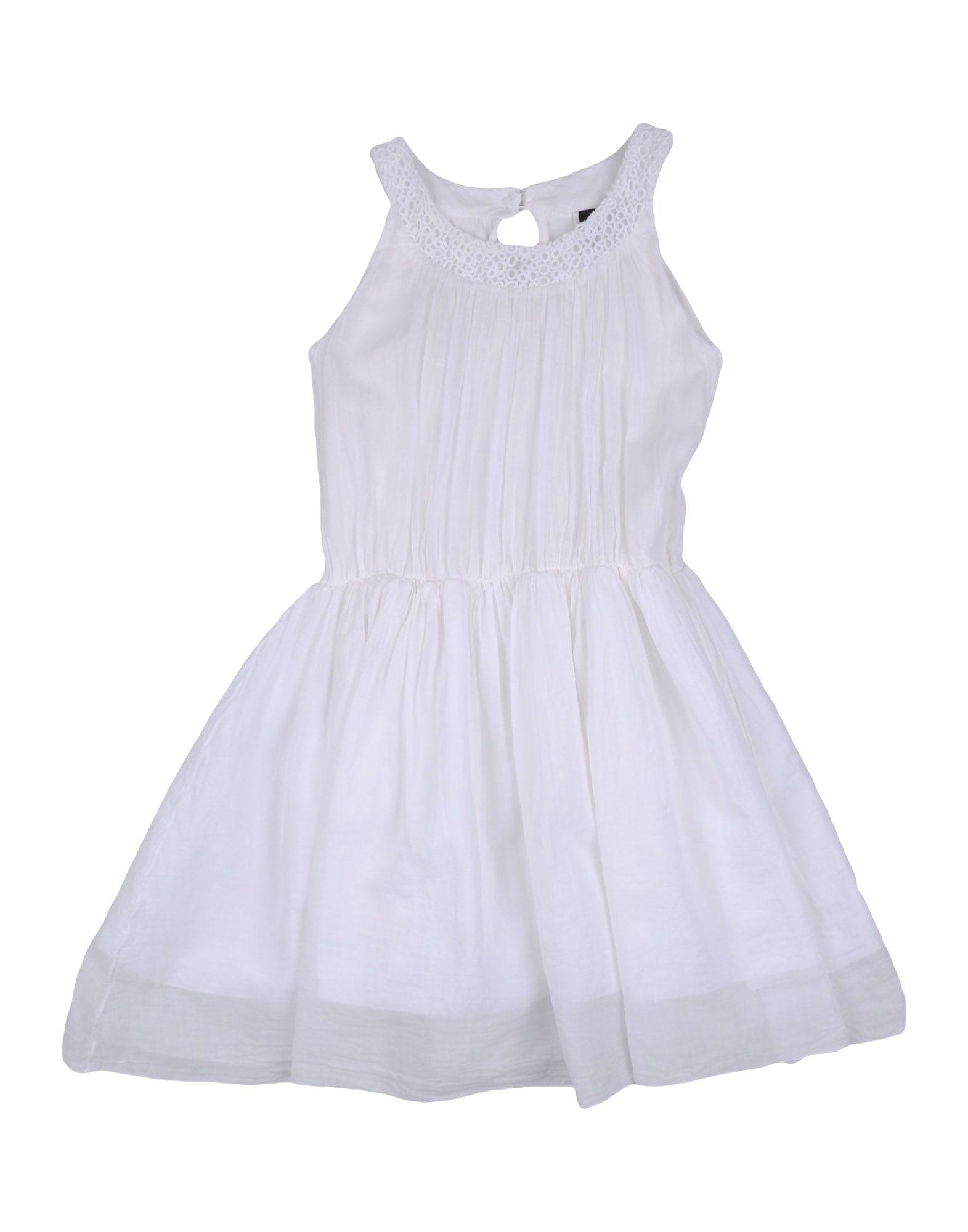 EUROPEAN CULTURE Mädchen 3-8 jahre Kleid Farbe Weiß Größe 2