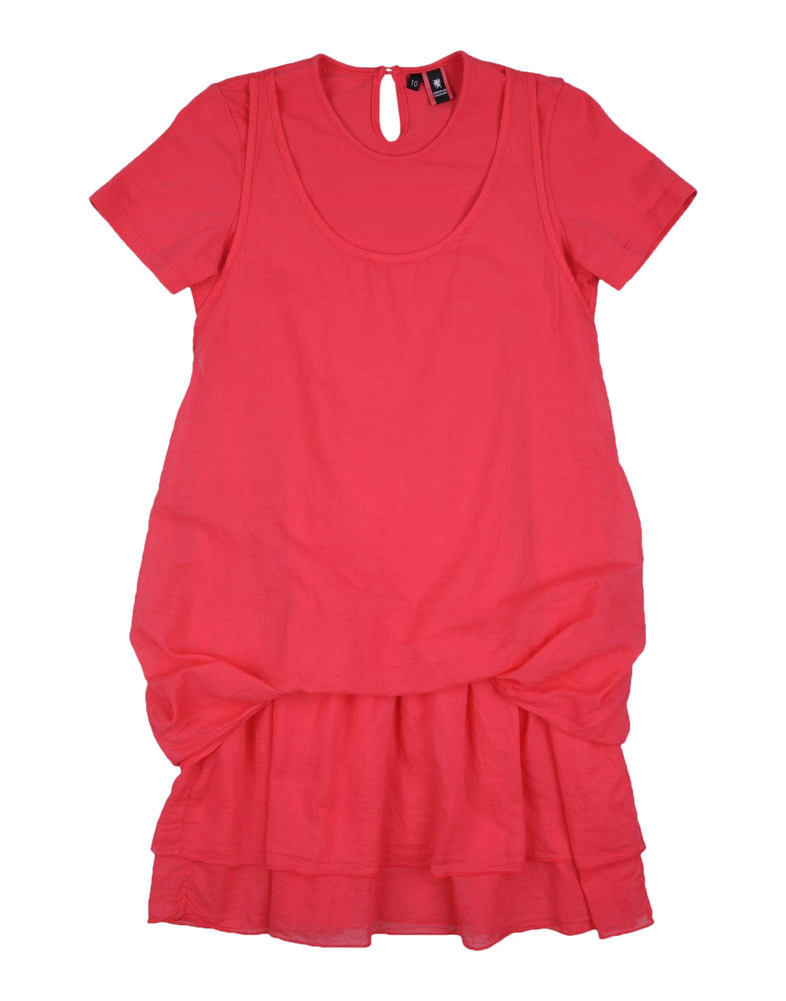 EUROPEAN CULTURE Mädchen 9-16 jahre Kleid Farbe Koralle Größe 4