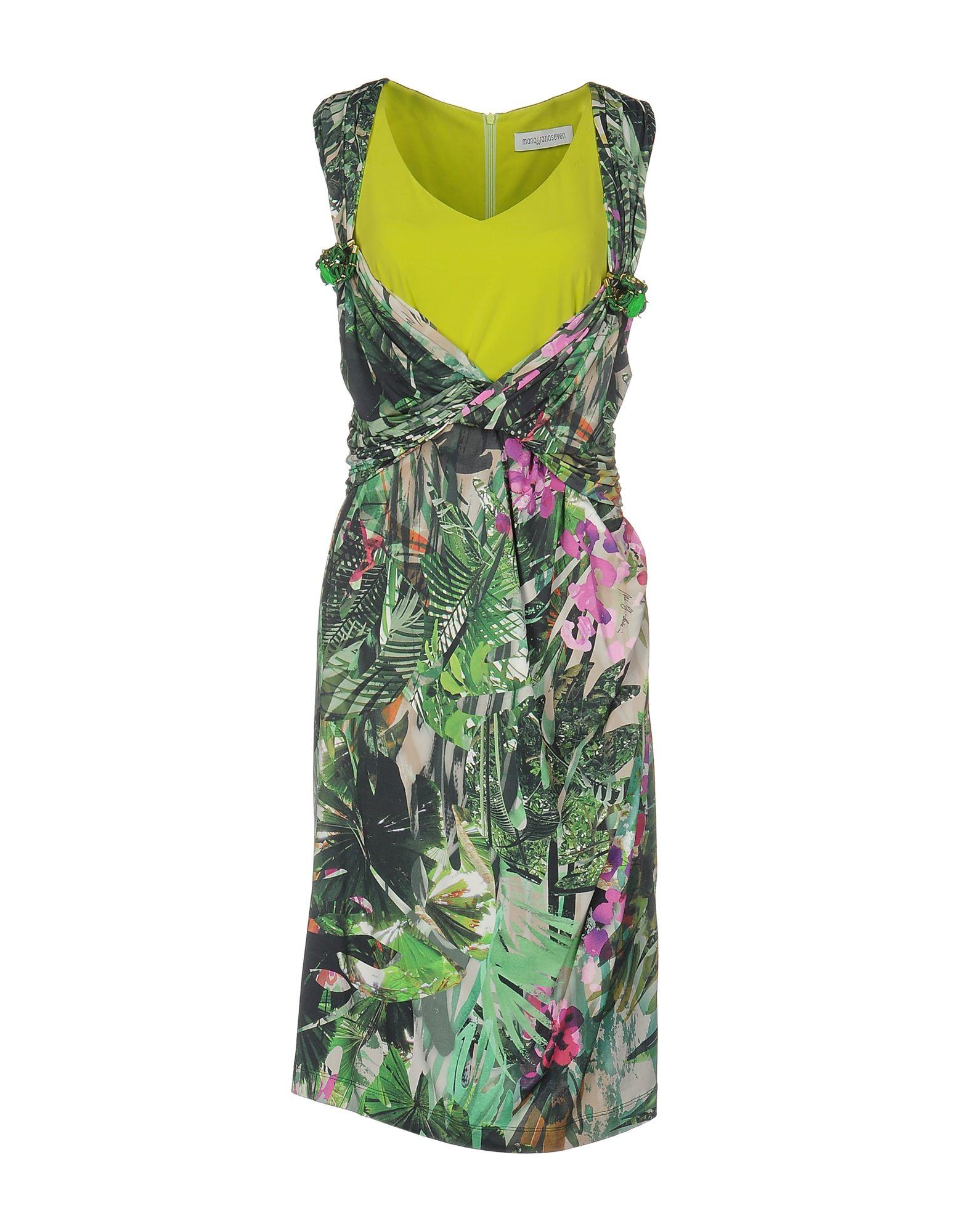 MARIA GRAZIA SEVERI Damen Knielanges Kleid Farbe Grün Größe 6