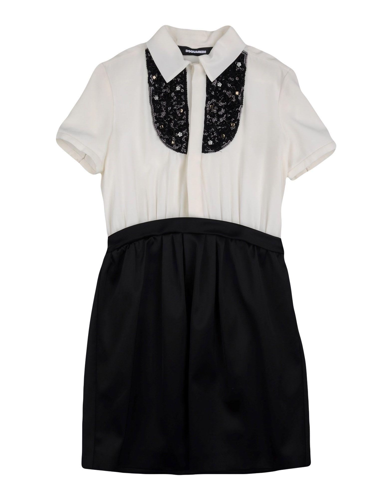 DSQUARED2 Mädchen 9-16 jahre Kleid Farbe Schwarz Größe 4