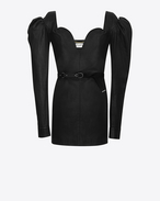 SAINT LAURENT Dresses D sweetheart mini dress in black leather f