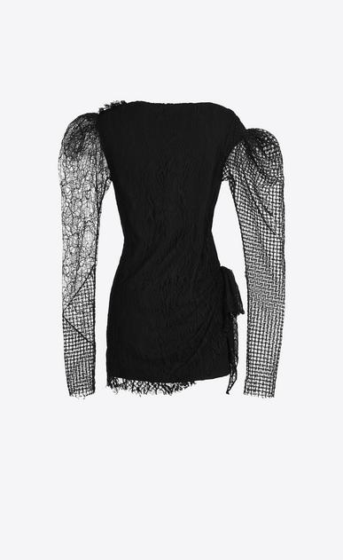 SAINT LAURENT Dresses D patchwork mini dress in black lace b_V4