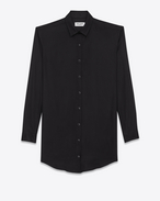 SAINT LAURENT Dresses D shirt dress in black viscose twill f